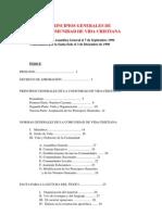 CVX. Principios Generales y Normas Generales