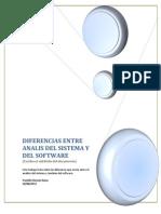 Diferencias Del Analisis de Requerimientos y Analisis de Sistema