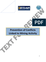 Prevention of Conflicts Linked to Mining Activity