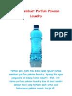 Cara Membuat Parfum Pakaian Laundry