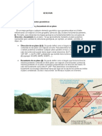 Geologia Mapa Geologico Representacion Elementos Geometricos