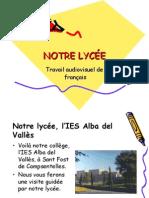 Notre collège, l'IES Alba del Vallès
