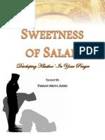 Sweetness of Salah - Handout - Farhan Abdul Azees
