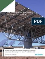Siemens Solar Tracking Control