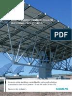 Siemens - How to exploit sunlight toward maximum energy yield?