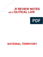 2010 Bar Review Notes in Political Law by Atty. Dela Cruz