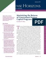 Maximizing the Returns of Government Venture Capital Programs