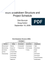 Work Breakdown Structure and Project Schedule