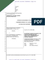 Plaintiffs' Motion for Preliminary Injunction, Wells Fargo Bank, Nat'l Ass'n v. City of Richmond, No. CV-13-3663-CRB (Aug. 8, 2013)