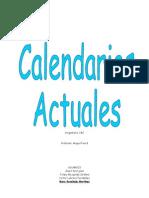 Calendarios actuales.