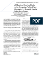 Experimental Educational Stand used for theUnderstanding of the Discharging Profile of Agro-Food Bulk Solids extracted by Geometric VariableDesign Screw Feeders