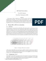 3D Grid generation