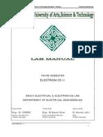 Electronics 2 Manuals