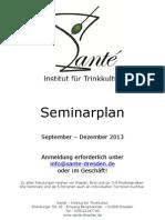 Santé-Seminarplan Sept-Dez 2013