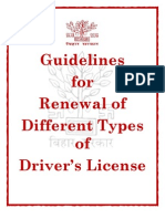 Guidelines for Renewal of Different Types of DL