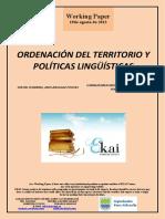 ORDENACIÓN DEL TERRITORIO Y POLÍTICAS LINGÜÍSTICAS