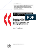 "Butault, J (2011), ""Evolution of Agricultural Support in Real Terms in OECD Countries and Emerging Economies"", OECD Food, Agriculture and Fisheries Working Papers, No. 37, OECD Publishing. doi"
