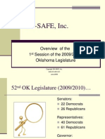 OKSAFE Overview of 1st Session of 2009_2010 OK Legislature