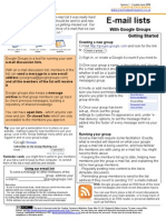 One Page Guide to E-mail Lists with Google Groups