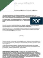 Resumo TRANSPORTE ATRAVÉS DA MEMBRANA
