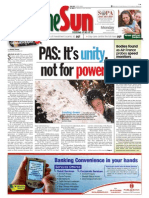 thesun 2009-06-08 page01 pas its unity not for powe