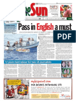 thesun 2009-06-09 page01 pass in english a must
