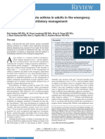Management of Acute Asthma in Adults in the Emergency