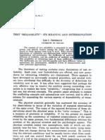 artigo cronbach 1947 - validade