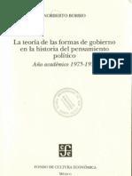Bobbio, Norberto - La teoría de las formas de gobierno en la historia del pensamiento político [OBRA COMPLETA]