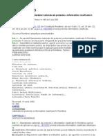 HG 585 2002 Standarde de Prot Inf Clasificate