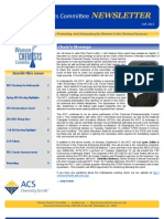 American Chemical Society Women Chemists Committee Newsletter Fall 2013