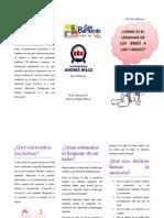Fonoaudiología  triptico desarrollo del lenguaje 7 meses