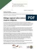NOTA DE PRENSA 01 - Conferencia de apertura Diálogo Regional Voces de Dignidad