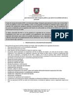 Documentos necesarios para aprobación de PMT