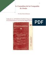 El Libro de consultas de la Compañía de Jesús (1987) por Sara Peña de Bascary