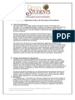 FSU Non-Discrimination & Grievance Policies and Procedures