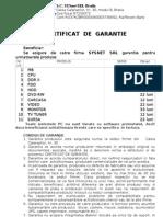 Certificat Garantie 2