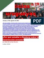 Noticias Uruguayas Viernes 23 de Agosto Del 2013