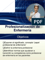 Profesionalizacion de Enfermeria