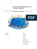 The European Union and Immigration from New  Member Countries