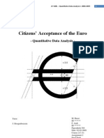 Citizens' Acceptance of the Euro Currency