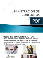 Administracion de Conflictos
