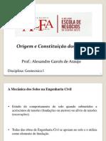 AULA 01 - ORIGEM E CONSTITUIÇAO