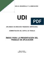 INDICE PARA LA PRESENTACIÓN DEL INFORME DE DIAGNÓSTICO Y PLANIFICACIÓN FINANCIERA