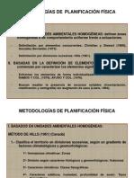4 Metodologías de planificación física