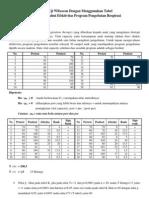Contoh Uji Wilxocon Dengan Menggunakan Tabel (Manual) Untuk Mengetahui Efektivitas Program Pengobatan Respirasi