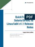 QuickTransit SSLI Release Notes 1.1