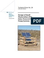 Design of Small Photovoltaic (Pv) Solar-powered Water Pump