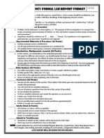 Formal Lab Report Format and Checklist