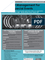 Project Management for Special Events